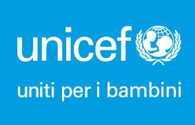 UNICEF Vert Bianco su Cyan